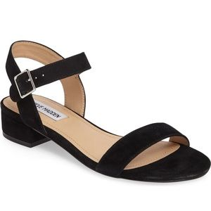 Steve Madden Cache Ankle Strap Suede Flat Sandal